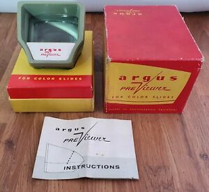 Vintage Argus Previewer For Colour Slide Viewer With Original Box