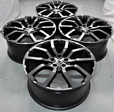 """20"""" 2017 RANGE ROVER STYLE BLACK WHEEL RIMS FITS DISCOVERY RANGE ROVER 5381 MB"""