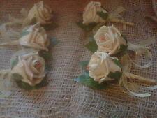 wedding  buttonhole vintage gold  large rose x12