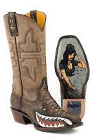 Tin Haul Boots Men's Sharky Western Cowboy Boot, Bomber Girl Sole