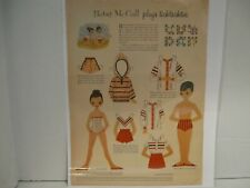 Vintage Betsy McCall Plays Ticktacktoe Paper Doll Page 1957 Uncut Original