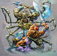 "Vintage 1994 Simon Bisley ""Weaponlord 2"" Original Art 20""x 24"" Painting Framed"
