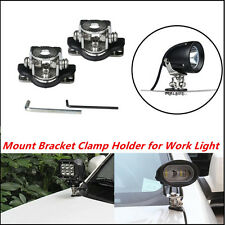 2x Universal A Pillar Hood Led Work Light bar Mount Bracket Clamp Holder for SUV