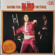 Having Fun With ELVIS On Stage Boxset 10 inch vinyl BOXCAR -  RARE 100 copies