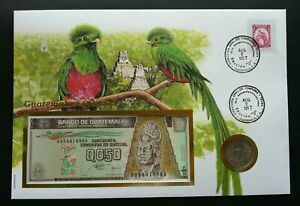 [SJ] Guatemala Birds 1997 Heritage Fauna FDC (banknote coin cover) *3 in 1