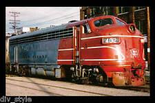 Rock Island FP7 #402 diesel locomotive railroad passenger train postcard