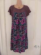 Lovely White Stuff size 8 colourful floral viscose dress, tie at back of neck