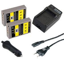 2x Batteria Patona + Caricabatteria casa/auto per Olympus BLS5,BLS50,BLS-50