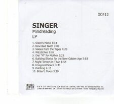 (FX55) Singer, Mindreading - 2011 DJ CD