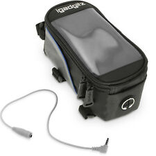 iGadgitz Small Black Reflective Strip Water Resistant Front Top Tube Pannier Bag