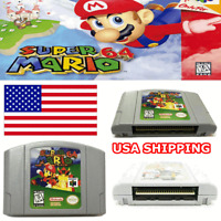USA Super Mario 64 Video Game Cartridge Console Card Version For Nintendo64 FAST