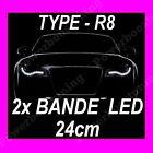 2 BANDE A LED SOUPLE BLANCHE PHARE FEUX DE JOUR DIURNE FEU BLANC IMITATION AUDI