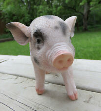 Spotted Pig Small Animal Figurine Resin Ornament Collector Pis Farm New Gift
