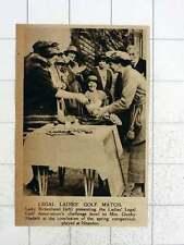 1920 Mrs Gunby Hadath Wins Ladies Legal Golf Challenge Bowl Neasden