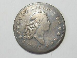 1795 Flowing Hair Half Dollar - Very Fine VF - #9627