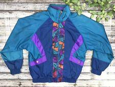 Westside Connection Womens Size Medium Vintage Multi Color Windbreaker Jacket 95