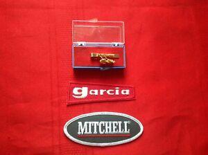 Vintage Garcia Mitchell Collectible Tie Clip & Patch 300 308 358 408 508 Lot #8