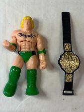 WWF Hasbro Ultimate Warrior Mr. Perfect & WCW World Heavyweight Title Belt Toys