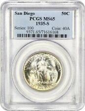 1935-S San Diego 50c PCGS MS65 - Silver Classic Commemorative
