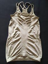 Sweaty Betty Gold Yoga Vest size XS