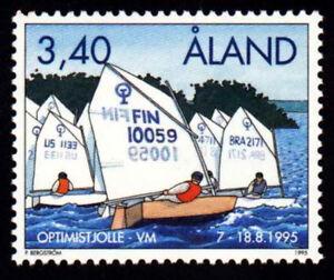 Aland 1995 Sport, Sailing, Optimist World Dinghy Championships, MNH / UNM