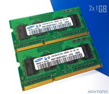 2GB RAM Lot Samsung DDR3 PC 3 SODIMM 2x 1GB Laptop Memory PC3-8500S