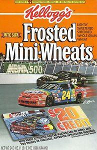 Jeff Gordon & Bobby Labonte--1994 Kellogg's Frosted Mini-Wheats Box Front Panel