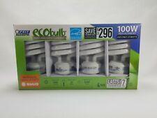 1 Set EcoBulb 4 Pack CFL Twist Light Bulbs 4 Light Bulbs 100 W Use Only 23 Watts