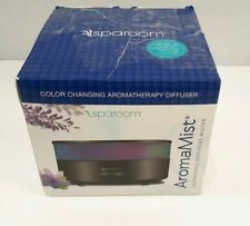 SpaRoom Aromamist Ultrasonic Essential Oil Diffuser Color Changing Unused
