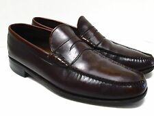 Whippet Wright Vtg Arch Preserver Burgundy Leather Dress Loafers Size 11 1/2 A