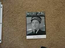 """Signed Jason Wingreen 5x7"""" The Twilight Zone A Stop in WIlloughby Rod Serling OH"""