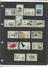 """ANGUILLA 1972 PICTORIAL SET TO $10 """"BIRDS,FLOWERS,SCENERY,TURTLE"""" SG.130-44a MNH"""