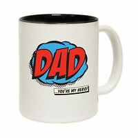 Dad You're My Hero Daddy Tea Novelty Father day MUG birthday office funny gift
