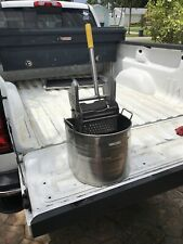 Royce Rolls Model Stainless Steel Mop Bucket & Wringer Heavy Duty Works