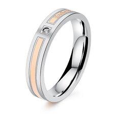Design-Ring ! Rosegold-Farbe  Damen Ringe Ring Verlobungsring Ehering Zirkonia