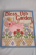 "Jim Shore ""Angel Garden Plaque"" Bless this Garden #4011474 Mib 2007"