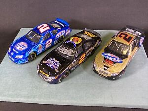 3 Rusty Wallace Action 1:24 Action Diecast Cars Signed Last Call Chrome Miller +