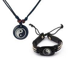 Ying & Yang Necklace Pendant and bracelet set birthday mens necklace set