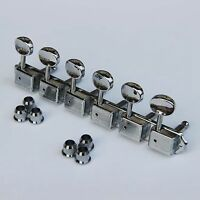New Wilkinson Deluxe WJ55S 6 In line Machine Heads / Tuners Chrome