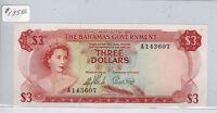 1965 Bahamas $3 Banknote, Choice Uncirculated