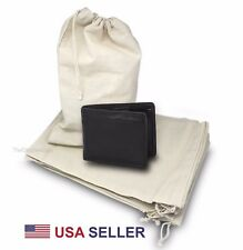 """100pcs 6""""x8 Cotton Muslin Drawstring Reusable Bags for Spices, Herbs, Dust Cover"""