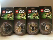 LOT Lego Star Wars Leia, Han Solo, Obi-Wan Kenobi, Darth Vader Fridge Magnets