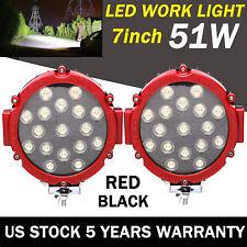 2X 7Inch LED Car LED Work Lights Spot Fog Lamps Off-Road ATV 5100LM Super Bright