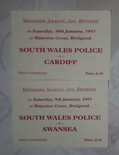 SOUTH WALES POLICE v CARDIFF & SWANSEA RUGBY TICKETS 1993