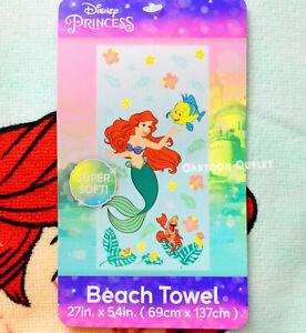 Disney The Little Mermaid Beach Towel Ariel Birthday Gift Bath Towel New