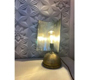 Tilley Lamp with rectangular shade, restored and converted to electric.