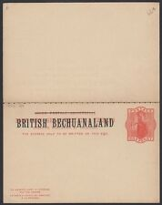 BECHUANALAND, 1883. Paid Reply Post Card H&G 9, Mint