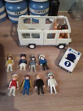Vintage playmobil 8 figures/police car/ van