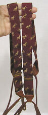 Vintage Suspenders Mens Braces Maroon with Yellow Scotties