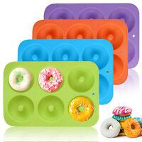 6 Cavity Silicone Donut Mold Doughnut Maker Non-Stick Chocolate Muffin Pan Tray